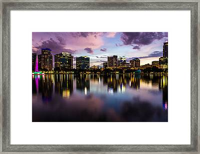 Downtown Orlando Framed Print