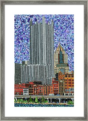 Downtown Pittsburgh - View From Smithfield Street Bridge Framed Print by Micah Mullen