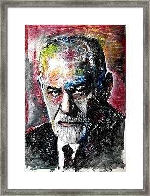 Dr Sigmund Freud Psychoanalist Framed Print