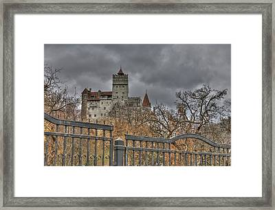 Framed Print featuring the photograph Dracula's Castle Transilvania In Hdr by Matthew Bamberg