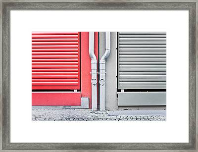 Drain Pipes Framed Print