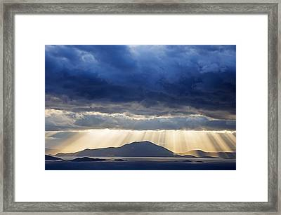 Dramatic Sky Above Mediterranean Seascape Framed Print by Claudia Holzfoerster