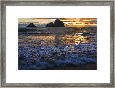 Dramatic Sunset Oregon Coast Usa Framed Print by Vishwanath Bhat