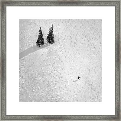 Drawing His Own Framed Print by Peter Svoboda