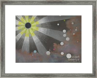 Drawn To The Black Hole Framed Print by Janet Hinshaw