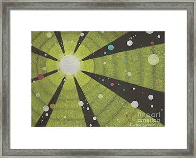Drawn To The Sun Framed Print by Janet Hinshaw