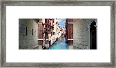 Dreaming Of Venice Panorama Framed Print by Az Jackson