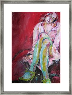 Dreamy Girl Framed Print by Brigitte Hintner
