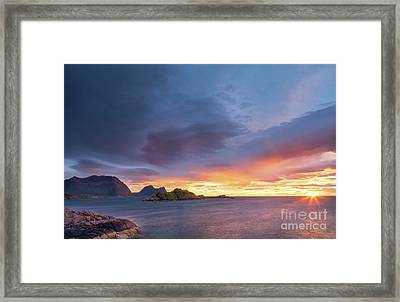 Framed Print featuring the photograph Dreamy Sunset by Maciej Markiewicz