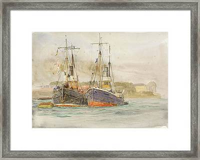 Drifters Framed Print by William Lionel