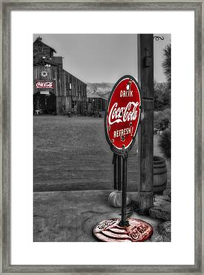 Drink Coca Cola Refresh Framed Print by Susan Candelario