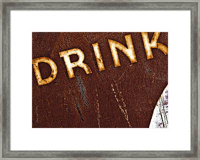 Drink Framed Print by Curtis Staiger