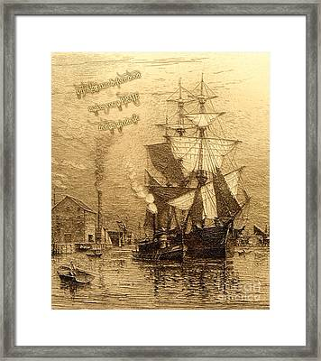 Drinking Rum Before Noon Framed Print by John Stephens