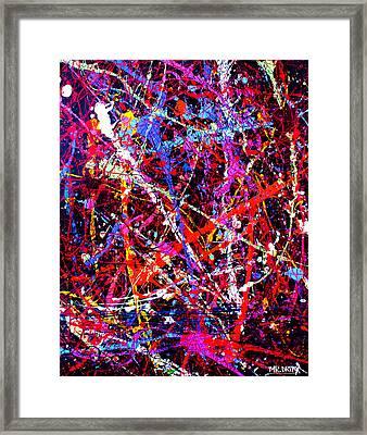 Dripx 10 Framed Print