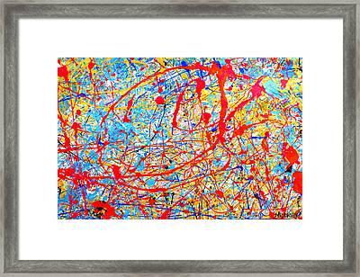 Dripx 4 Framed Print