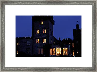 Dromoland Castle At Night Framed Print