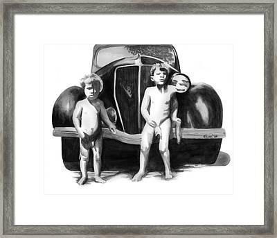 Dropped Fig Leaf Framed Print