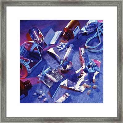 Drug Abuse Framed Print by Tek Image