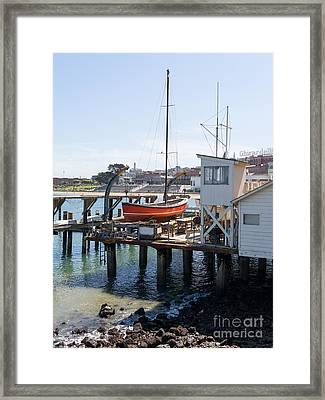 Dry Dock Overlooking The Ghirardelli Chocolate Factory San Francisco California Dsc3189 Framed Print