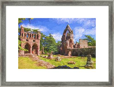 Dryburgh Abbey Framed Print by Patricia Hofmeester