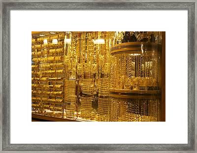 Dazzling Dubai Gold  Framed Print by Art Spectrum