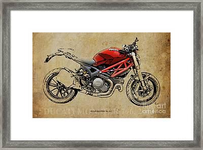 Ducati Monster 796 2013 Framed Print by Pablo Franchi