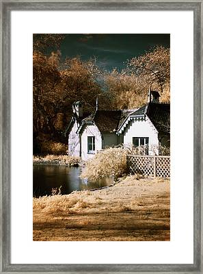 Duck Island Cottage Framed Print