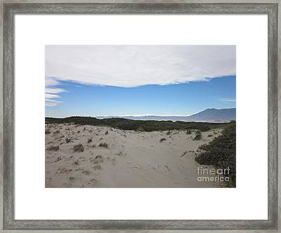 Dune In Roquetas De Mar Framed Print