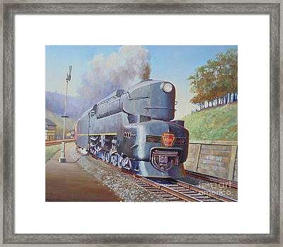 Framed Print featuring the painting Duplex Express by Mike Jeffries