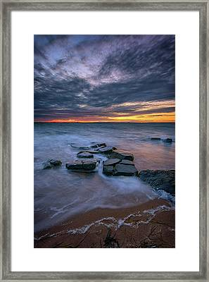 Dusk On Fire Island Framed Print by Rick Berk