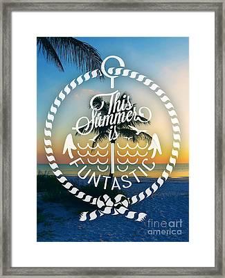 Dusk On The Beach I Framed Print by Chris Andruskiewicz