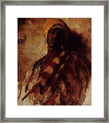Duveneck Frank Guard Of The Harem  Study  Framed Print