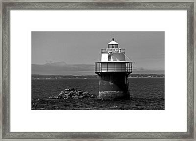 Duxbury Pier Lighthouse Ma Framed Print