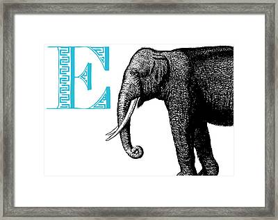 E Elephant Framed Print