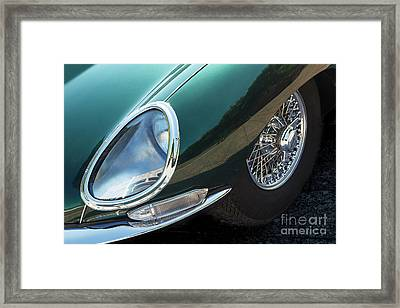 Framed Print featuring the photograph E-type by Dennis Hedberg