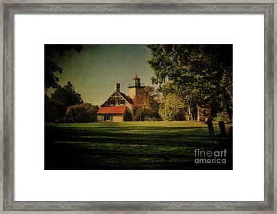 Eagle Bluff Lighthouse Framed Print by Joel Witmeyer
