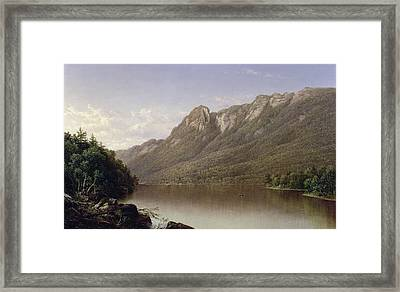 Eagle Cliff At Franconia Notch In New Hampshire Framed Print by David Johnson