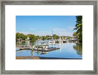 Early Fall Day On Spa Creek Framed Print