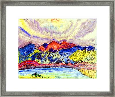 Early Landscape Framed Print by Charles Demuth