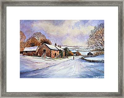 Early Morning Snow Framed Print by Andrew Read