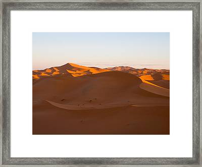 Early Morning Sunlight At The Erg Framed Print by Panoramic Images