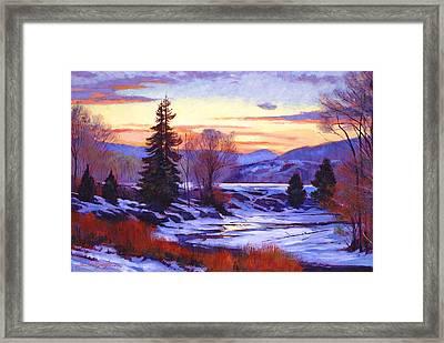 Early Spring Daybreak Framed Print by David Lloyd Glover