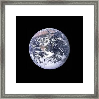 Earth Framed Print by New York Prints