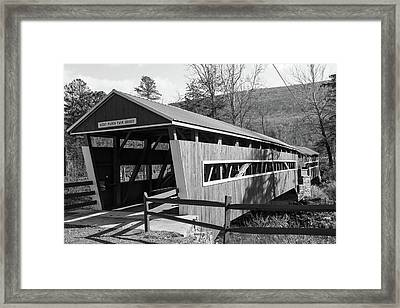East And West Paden Twin Bridge Framed Print
