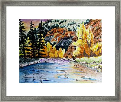 East Clear Creek Framed Print