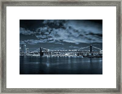 Framed Print featuring the photograph East River View by Az Jackson