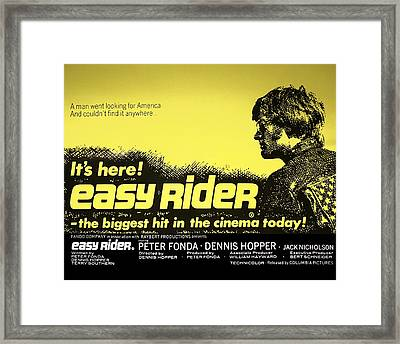 Easy Rider Movie Lobby Poster   1969 Framed Print by Daniel Hagerman
