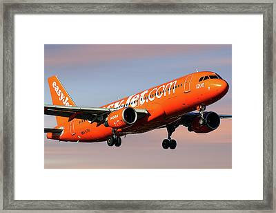 Easyjet 200th Airbus Livery Airbus A320-214 Framed Print
