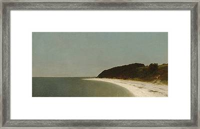 Eaton's Neck, Long Island Framed Print by John Frederick Kensett