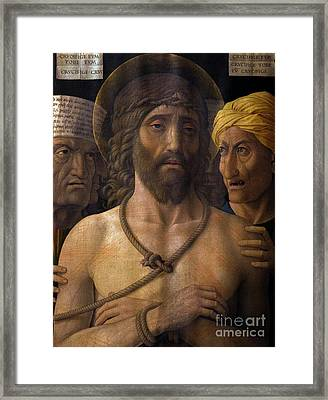 Ecce Homo, By Andrea Mantegna, 1493, Musee Jacquemart-andre, Par Framed Print